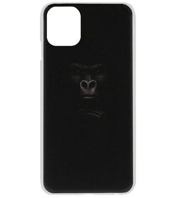 ADEL Kunststof Back Cover Hardcase Hoesje voor iPhone 11 Pro Max - Apen Gorilla