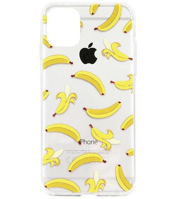 ADEL Siliconen Back Cover Softcase Hoesje voor iPhone 11 Pro Max - Bananen