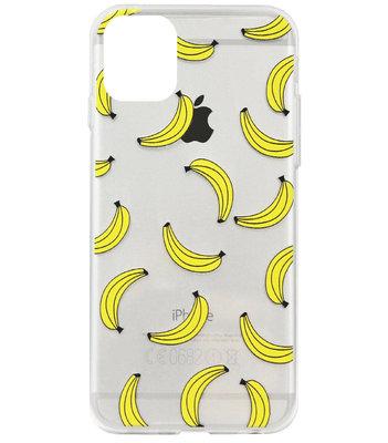 ADEL Siliconen Back Cover Softcase Hoesje voor iPhone 11 Pro Max - Bananen Geel