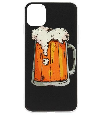 ADEL Siliconen Back Cover Softcase Hoesje voor iPhone 11 Pro Max - Bier Pils