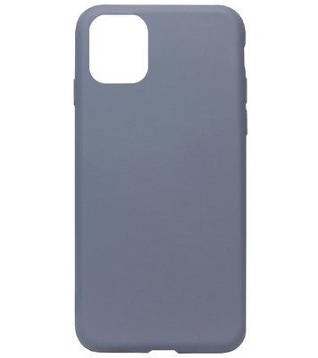 ADEL Premium Siliconen Back Cover Softcase Hoesje voor iPhone 11 Pro Max - Lavendel Blauw Paars