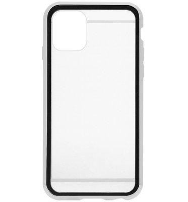 ADEL Magnetisch Kunststof 360 graden Full Body Cover Hoesje voor iPhone 11 Pro Max - Zilver