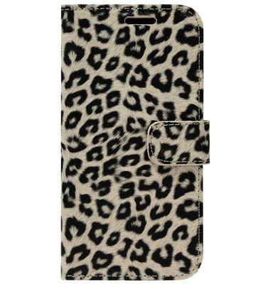 ADEL Kunstleren Book Case Portemonnee Pasjes Hoesje voor iPhone 11 - Luipaard