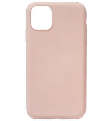 ADEL Premium Siliconen Back Cover Softcase Hoesje voor iPhone 11 Pro Max - Lichtroze