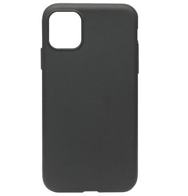 ADEL Premium Siliconen Back Cover Softcase Hoesje voor iPhone 11 Pro Max - Zwart