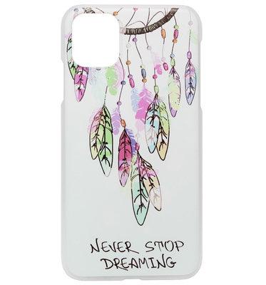 ADEL Kunststof Back Cover Hardcase Hoesje voor iPhone 11 Pro Max - Dromenvanger Kleur
