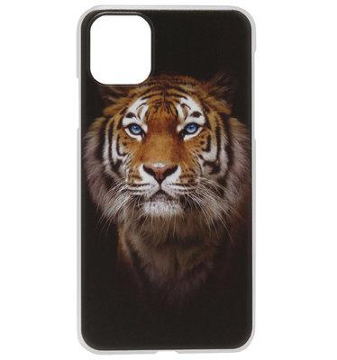 ADEL Kunststof Back Cover Hardcase Hoesje voor iPhone 11 Pro Max - Tijger