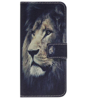 ADEL Kunstleren Book Case Portemonnee Pasjes Hoesje voor iPhone 11 Pro Max - Leeuw