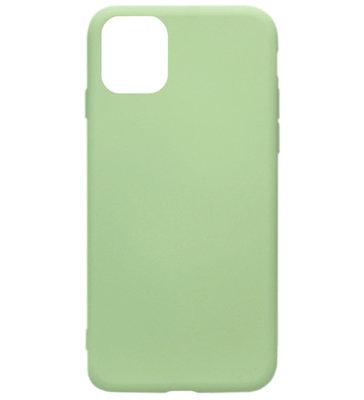 ADEL Premium Siliconen Back Cover Softcase Hoesje voor iPhone 11 Pro Max - Groen