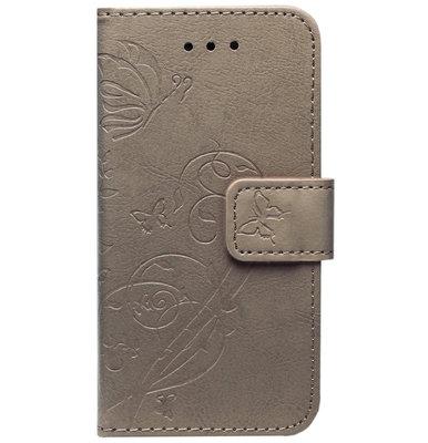 ADEL Kunstleren Book Case Portemonnee Pasjes Hoesje voor iPhone 11 Pro Max - Vlinder Bruin