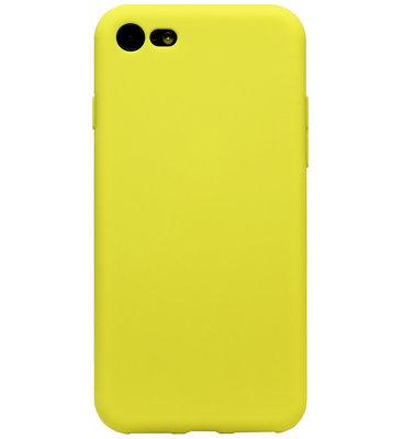 ADEL Siliconen Back Cover Softcase Hoesje voor iPhone SE (2020)/ 8/ 7 - Geel
