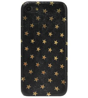 ADEL Siliconen Back Cover Softcase Hoesje voor iPhone SE (2020)/ 8/ 7 - Bling Bling Sterren Zwart