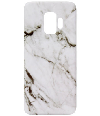 ADEL Kunststof Back Cover Hardcase Hoesje voor Samsung Galaxy S9 - Marmer Wit