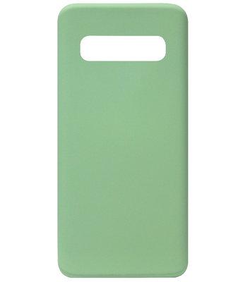 ADEL Premium Siliconen Back Cover Softcase Hoesje voor Samsung Galaxy S10 - Groen