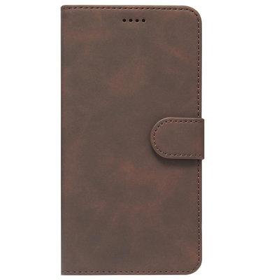 ADEL Kunstleren Book Case Portemonnee Pasjes Hoesje voor Samsung Galaxy A40 - Bruin