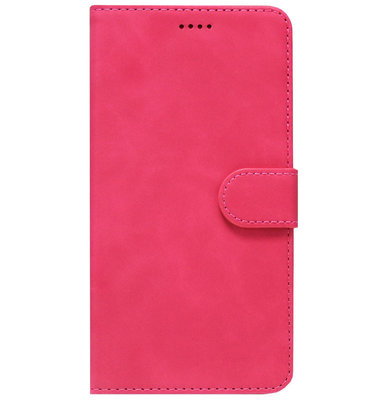 ADEL Kunstleren Book Case Portemonnee Pasjes Hoesje voor Samsung Galaxy A40 - Roze