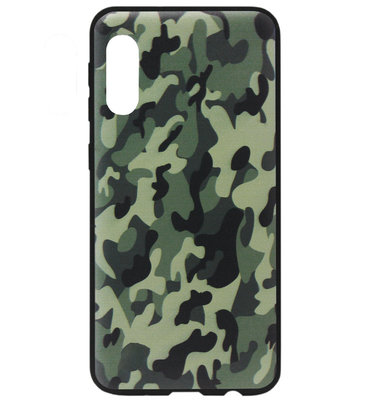 ADEL Siliconen Back Cover Softcase Hoesje voor Samsung Galaxy A50(s)/ A30s - Camouflage