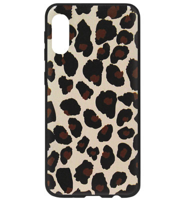 ADEL Siliconen Back Cover Softcase Hoesje voor Samsung Galaxy A50(s)/ A30s - Luipaard Bruin