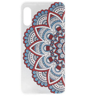 ADEL Siliconen Back Cover Softcase Hoesje voor Samsung Galaxy A50(s)/ A30s - Mandala Bloemen Rood