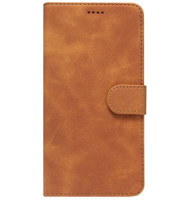 ADEL Kunstleren Book Case Portemonnee Pasjes Hoesje voor Samsung Galaxy A50(s)/ A30s - Lichtbruin