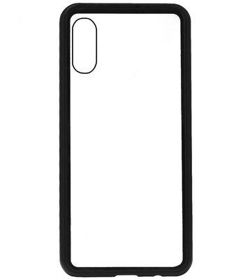 ADEL Magnetisch Glazen Kunststof Back Cover Hoesje voor Samsung Galaxy A50(s)/ A30s - Zwart