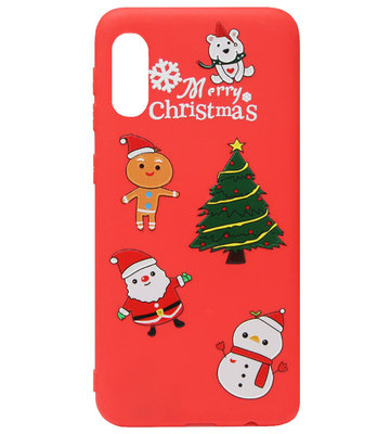 ADEL Siliconen Back Cover Softcase Hoesje voor Samsung Galaxy A50(s)/ A30s - Kerstmis Boom Sneeuwpop Kerstman