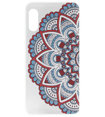 ADEL Siliconen Back Cover Softcase Hoesje voor Samsung Galaxy A70(s) - Mandala Bloemen Rood