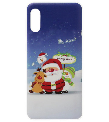 ADEL Siliconen Back Cover Softcase Hoesje voor Samsung Galaxy A70(s) - Kerstmis Kerstman