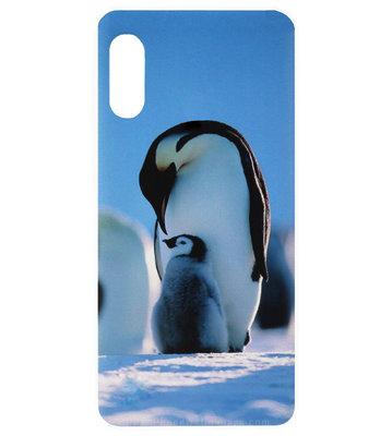ADEL Kunststof Back Cover Hardcase Hoesje voor Samsung Galaxy A70(s) - Pinguin