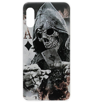 ADEL Siliconen Back Cover Softcase Hoesje voor Samsung Galaxy A70(s) - Schedel Kaart