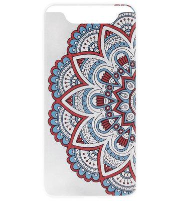 ADEL Siliconen Back Cover Softcase Hoesje voor Samsung Galaxy A80/ A90 - Mandala Bloemen
