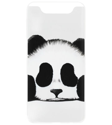 ADEL Siliconen Back Cover Softcase Hoesje voor Samsung Galaxy A80/ A90 - Panda