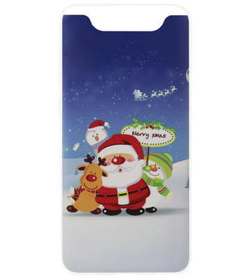 ADEL Siliconen Back Cover Softcase Hoesje voor Samsung Galaxy A80/ A90 - Kerstmis Kerstman