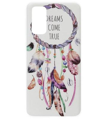 ADEL Siliconen Back Cover Softcase Hoesje voor Samsung Galaxy S20 - Dromenvanger Kleur