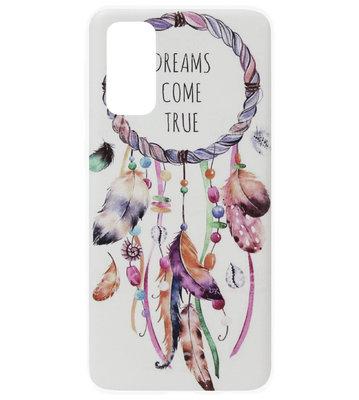 ADEL Siliconen Back Cover Softcase Hoesje voor Samsung Galaxy S20 Plus - Dromenvanger Kleur