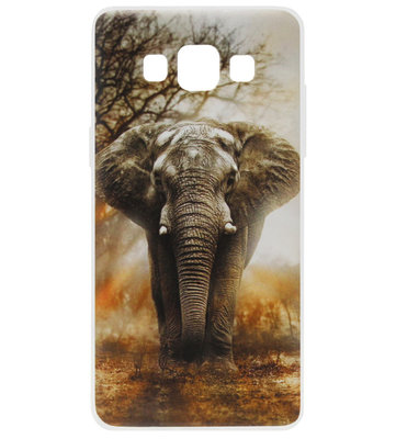 ADEL Siliconen Back Cover Softcase Hoesje voor Samsung Galaxy A5 (2015) - Olifant