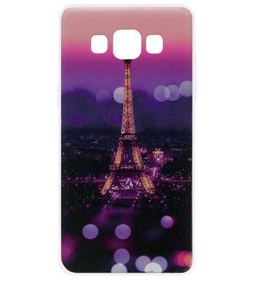 ADEL Siliconen Back Cover Softcase Hoesje voor Samsung Galaxy A5 (2015) - Parijs Eiffeltoren