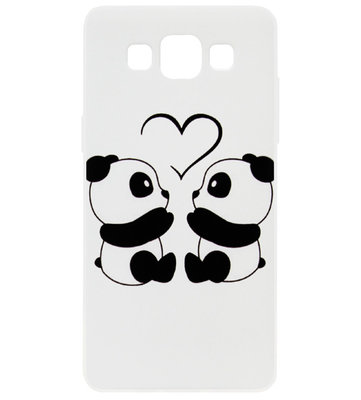 ADEL Kunststof Back Cover Hardcase Hoesje voor Samsung Galaxy A5 (2015) - Panda Familie