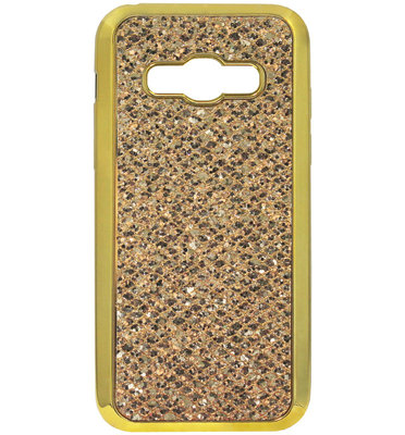 ADEL Siliconen Back Cover Softcase Hoesje voor Samsung Galaxy A5 (2015) - Bling Bling Glitter Goud