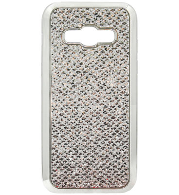 ADEL Siliconen Back Cover Softcase Hoesje voor Samsung Galaxy A5 (2015) - Bling Bling Glitter Zilver