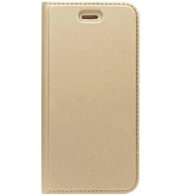 ADEL Premium Kunstleren Book Case Pasjes Magneetsluiting Hoesje voor Samsung Galaxy A5 (2015) - Goud