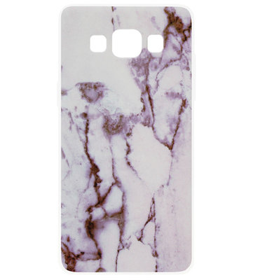ADEL Siliconen Back Cover Softcase Hoesje voor Samsung Galaxy A5 (2015) - Marmer Rood Wit