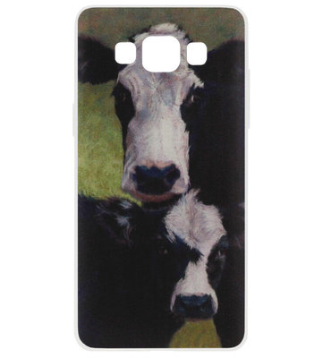 ADEL Siliconen Back Cover Softcase Hoesje voor Samsung Galaxy A5 (2015) - Koeien