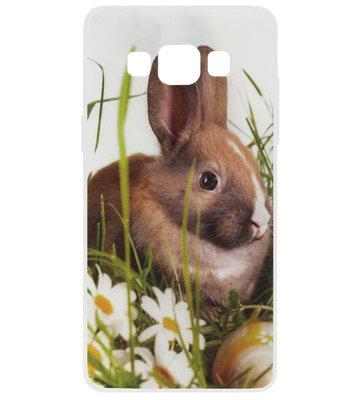 ADEL Siliconen Back Cover Softcase Hoesje voor Samsung Galaxy A5 (2015) - Konijn