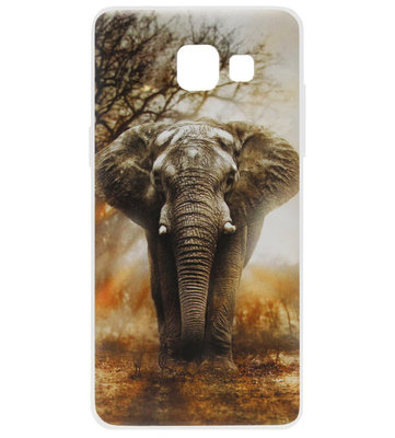 ADEL Siliconen Back Cover Softcase Hoesje voor Samsung Galaxy A3 (2016) - Olifant