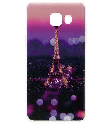 ADEL Siliconen Back Cover Softcase Hoesje voor Samsung Galaxy A3 (2016) - Parijs Eiffeltoren