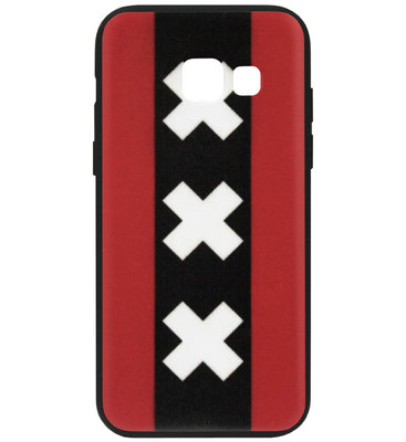 ADEL Siliconen Back Cover Softcase Hoesje voor Samsung Galaxy A3 (2016) - Amsterdam Andreaskruisen