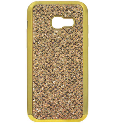 ADEL Siliconen Back Cover Softcase Hoesje voor Samsung Galaxy A3 (2016) - Bling Bling Glitter Goud