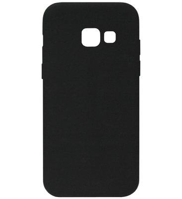 ADEL Siliconen Back Cover Softcase Hoesje voor Samsung Galaxy A3 (2016) - Zwart