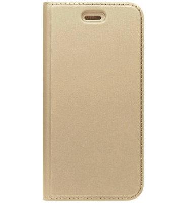 ADEL Premium Kunstleren Book Case Pasjes Magneetsluiting Hoesje voor Samsung Galaxy A3 (2016) - Goud